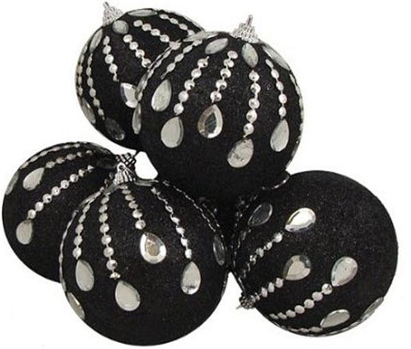 black christmas tree ornaments - Black Christmas Tree Ornaments