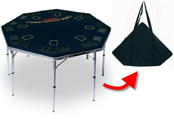 Folding Portable Poker Table With Cup Holders