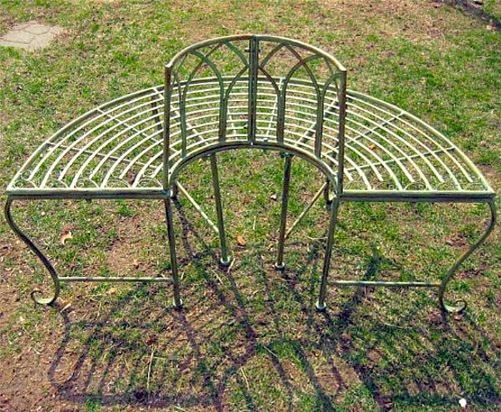 Circle Tree Bench ~ Garden deck patio thatsthestuff