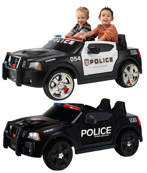 kids ride on police car