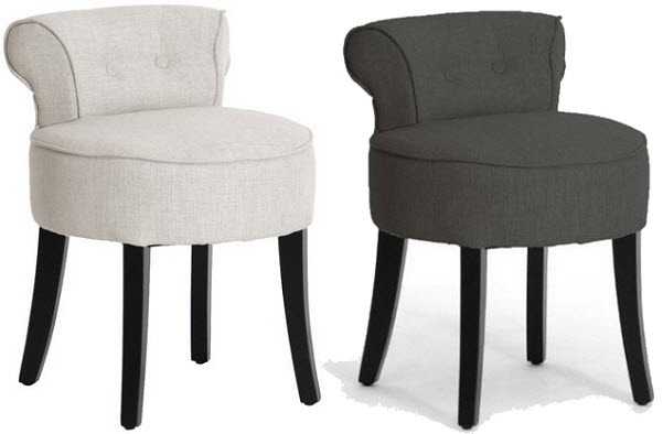 Upholstered Vanity Chairs
