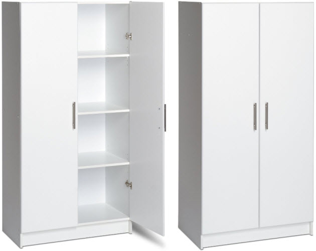 White Cabinet With Doors Design Decoration