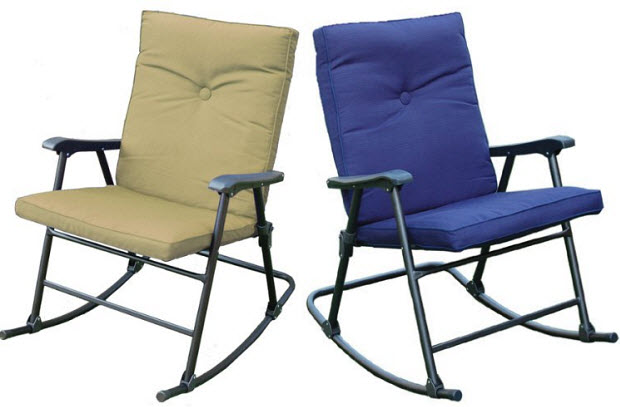 Cushioned Outdoor Folding Rocking Chair
